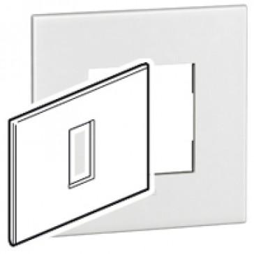 Plate Arteor - Italian / US standard - square - 1 module - white