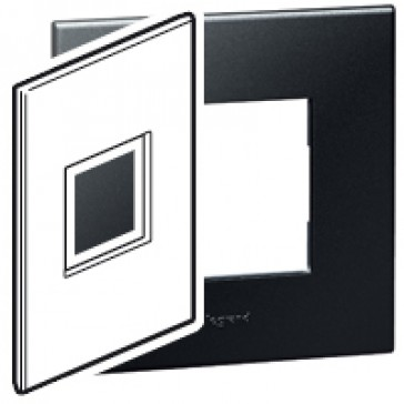Plate Arteor - American standard - square - 2 modules - 2'' x 4'' - graphite