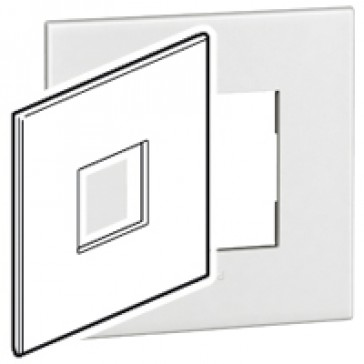 Plate Arteor - American standard - square - 2 modules - 4''x4'' - white