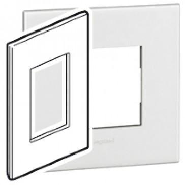 Plate Arteor - American standard - square - 3 modules - 2'' x 4'' - white