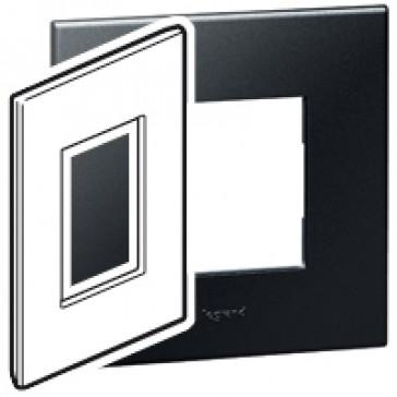 Plate Arteor - American standard - square - 3 modules - 2'' x 4'' - graphite