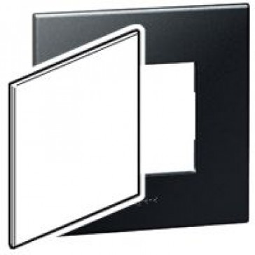 US blanking cover plate Arteor - for 4''x4'' boxes - graphite