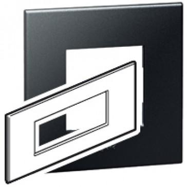 Plate Arteor - Italian/French/German standard - square - 6 modules - graphite