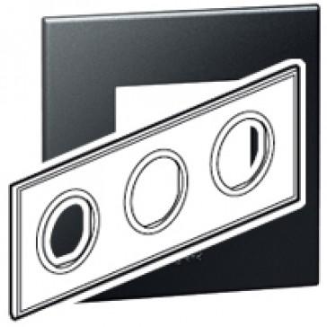 Plate Arteor - French/German standard - round - 3 x 2 modules - graphite