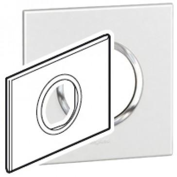 Plate Arteor - Italian / US standard - round - 2 modules - white