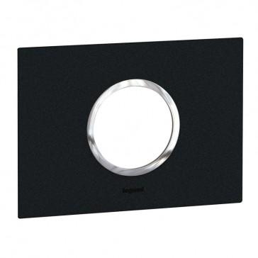 Plate Arteor - Italian / US standard - round - 2 modules - graphite