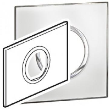 Plate Arteor - Italian / US standard - round - 2 modules - mirror white