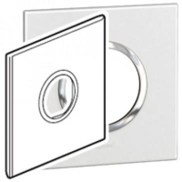 Plate Arteor - American standard - round - 2 modules - 4''x4'' - white