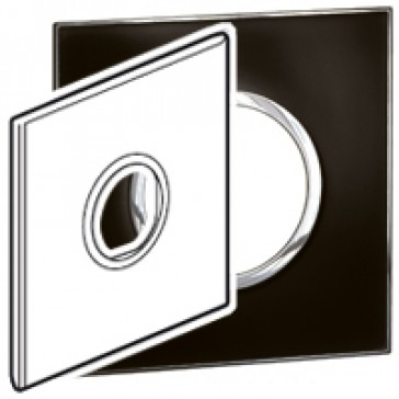 Plate Arteor - US standard - round - 2 modules - 4''x4'' - mirror black