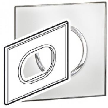 Plate Arteor - Italian / US standard - round - 3 modules - mirror white