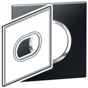 Plate Arteor - American standard - round - 3 modules - 4''x4'' - graphite
