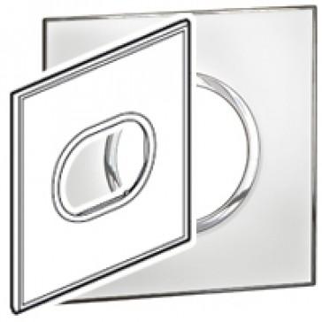Plate Arteor - US standard - round - 3 modules - 4''x4'' - mirror white
