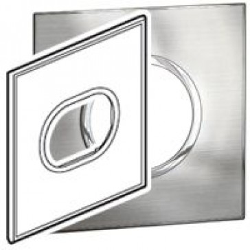 Plate Arteor - US standard - round - 3 modules - 4''x4'' - stainless steel