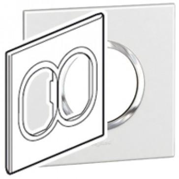 Plate Arteor - American standard - round - 2 x 3 modules - 4''x4'' - white