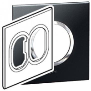 Plate Arteor - American standard - round - 2 x 3 modules - 4''x4'' - graphite
