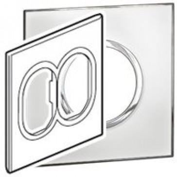 Plate Arteor - US standard - round - 2 x 3 modules - 4''x4'' - mirror white