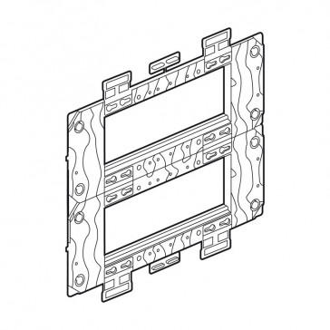 Support frame Arteor - for German/French boxes - 2 x 6 horizontal modules
