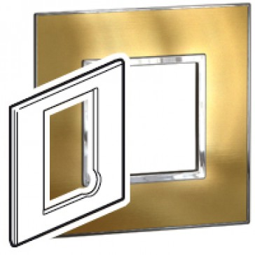 Plate Arteor - BS - square - fused connection units - gold brass