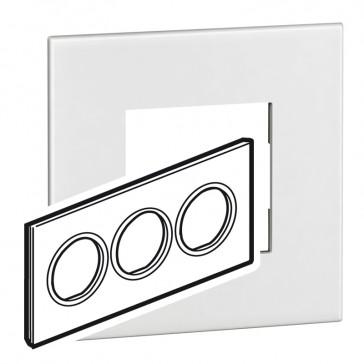 Plate Arteor - British standard - round - 6 modules - white