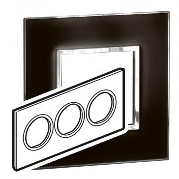 Plate Arteor - British standard - round - 6 modules - mirror black