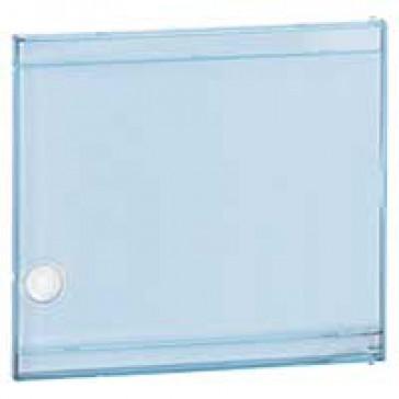 Door - for Nedbox 6012 40 - transparent plastic blue tinted - polycarbonate