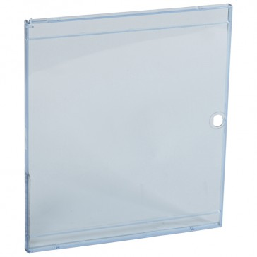 Door - for Nedbox 6012 42 - transparent plastic blue tinted - polycarbonate