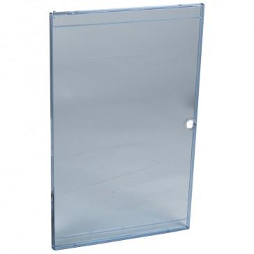 Door - for Nedbox 6012 43 - transparent plastic blue tinted - polycarbonate