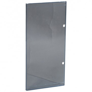 Door - for Nedbox 6012 44 - transparent plastic blue tinted - polycarbonate