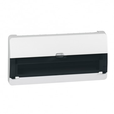 Surface mounting box - 22 modules units - Plastic IP30 - IK07 -Transparent door