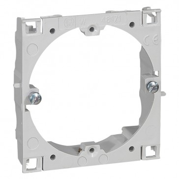 Universal support for DLP-S universal trunking with 75 mm cover - for 60 mm fixing centres wiring devices