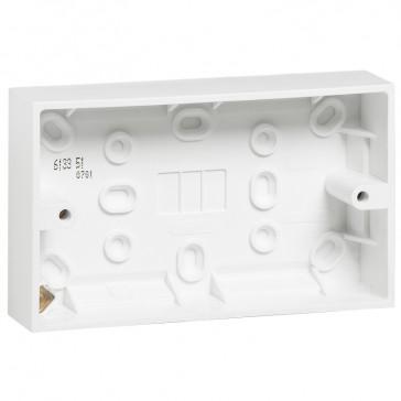 Surface mounting box - BS standard - 1 gang - 86 x 146 x 35 mm