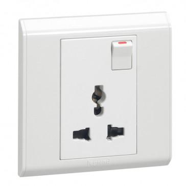 Multistandard switched socket outlet Belanko - white