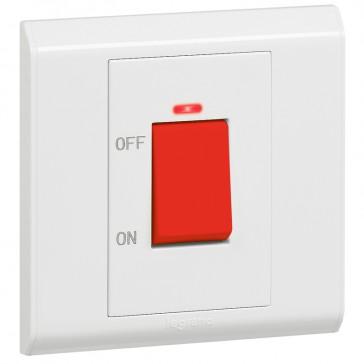 Double pole switch Belanko - 1 way switch + neon - 1 gang - 45 A 250 V~