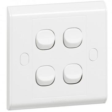 Single pole switch Belanko - 4 gang - 1-way switch - small rocker
