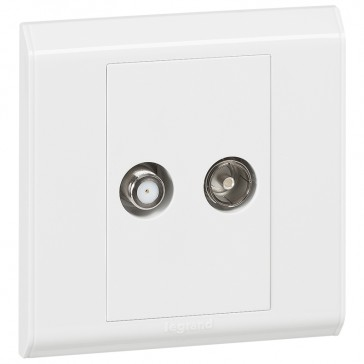 "Television socket Belanko - double TV socket - ""F"" type + female"