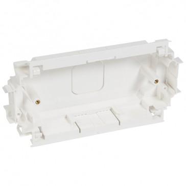 Back box for mounting British standard wiring accessories - depth 35 mm - 2 gang