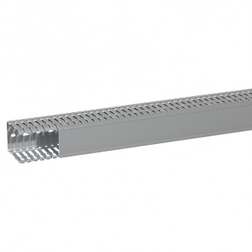 Cable ducting (base + cover) Transcab - 60x80 mm - grey RAL 7030