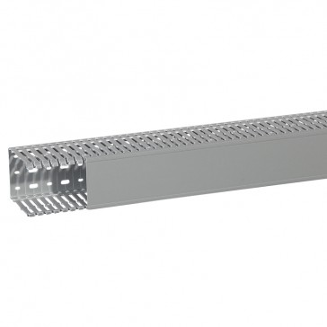 Cable ducting (base + cover) Transcab - 80x100 mm - grey RAL 7030