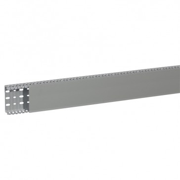 Cable ducting (base + cover) Transcab - 100x40 mm - grey RAL 7030