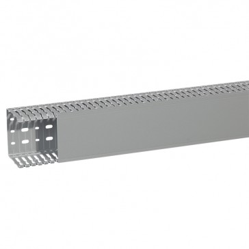 Cable ducting (base + cover) Transcab - 100x80 mm - grey RAL 7030