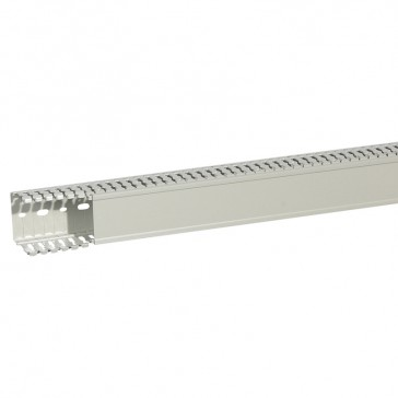 Cable ducting (base + cover) Transcab - 60x60 mm - light grey halogen free