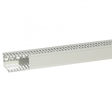Cable ducting (base + cover) Transcab - 60x80 mm - light grey halogen free