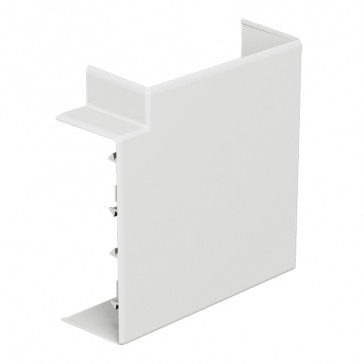 Fixed flat angle at 90° for rigid cover DLP-S snap-on trunking 130x50 mm
