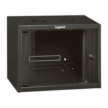 "Linkeo fix 19"" cabinet with fix side panels - capacity 6U - dimensions 358x600x450 mm - ready-assembled"
