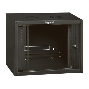 "Linkeo fix 19"" cabinet with fix side panels - capacity 18U - dimensions 892x600x450 mm - ready-assembled"
