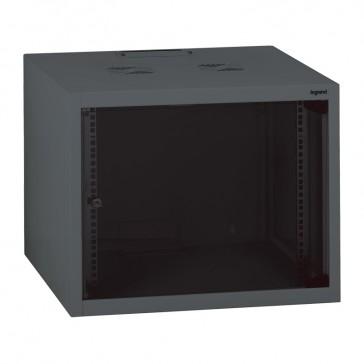 "Linkeo fix 19"" cabinet with fix side panels - capacity 6U - dimensions 358x600x600 mm - ready-assembled"