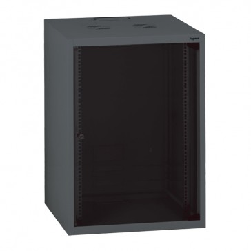 "Linkeo fix 19"" cabinet with fix side panels - capacity 18U - dimensions 892x600x600 mm - ready-assembled"