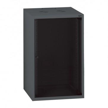 "Linkeo fix 19"" cabinet with fix side panels - capacity 21U - dimensions 1035x600x600 mm - ready-assembled"