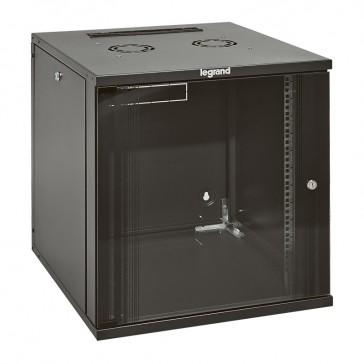 """Linkeo fix 19"""" cabinet with removable side panels - capacity 9U - dimensions 471x600x600 mm - ready-assembled"""
