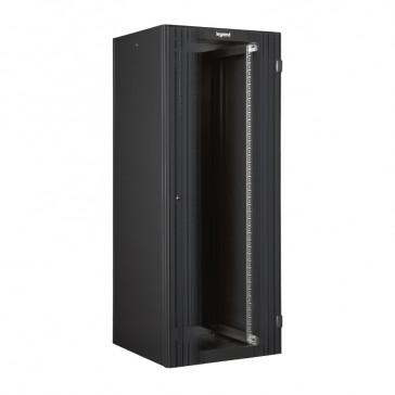 """Linkeo 19"""" freestanding cabinet with single front glass door - capacity 42U - dimensions 2026x600x600 mm - flatpack"""